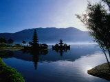 Ulun Danu Bratan Temple  Reflected in Lake Bratan  Early Morning  Indonesia