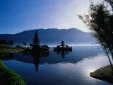 Ulun Danu Bratan Temple  Reflected in Lake Bratan  Early Morning  Indonesia
