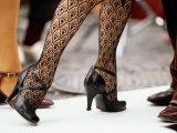Street Tango Dancers' Legs in San Telmo  Buenos Aires  Argentina