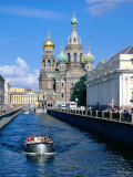 Griboedova Canal and Church of the Spilled Blood  St Petersburg  Russia