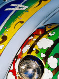 Detail of Decorated VW Beetle  Haight District  San Francisco  United States of America
