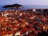 Old Town Buildings and Rooftops  Dubrovnik  Croatia