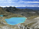Emerald Lakes  Tongariro National Park  North Island  New Zealand