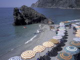 Mediterranean Beach in Cinque Terre  Liguria  Italy
