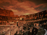 Sunset on the Ruins of the Coliseum  Rome  Italy