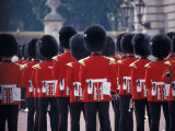 Changing of the Guards at Buckingham Palace  London  England