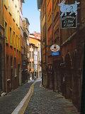 Narrow Street in Lyon (Vieux Lyon)  France