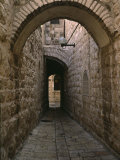 Arch of Jerusalem Stone and Narrow Lane  Israel