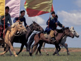 Horse Racing at Nadaam  Mongolia