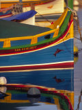 Colorful Fishing Boat Reflecting in Water  Malta