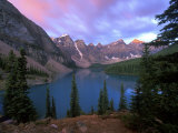 Lake Moraine at Dawn  Banff National Park  Alberta  Canada