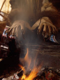Shamans Wear Gloves with Bear Claws  Kamchatka  Russia