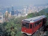 The Peak Tram  Victoria Peak  Hong Kong  China