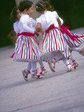 Children's Dance Group at Poble Espanyol  Montjuic  Barcelona  Spain
