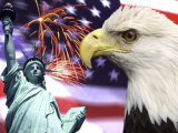 Eagle  Fireworks  Statue of Liberty
