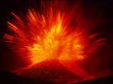 Explosive Vent on the North Side of the Montagnola  Mt Etna  Sicily  Italy