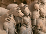 Terra Cotta Warriors at Emperor Qin Shihuangdi's Tomb  China