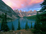 Lake Moraine at Dawn  Banff National Park  Alberta