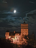 Dracula Castle at Night  Bran Castle  Transylvania  Romania
