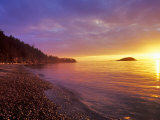Sunset at North Beach at Deception Pass State Park  Washington  USA