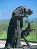 Statue of St Francis of Assisi at the Viansa Winery  Sonoma County  California  USA