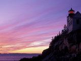 Bass Harbor Head Light at Sunset  Mt Desert Island  Acadia National Park  Maine  USA