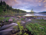 Lower Stillwater Lake in the Flathead National Forest  Montana  USA