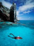 Snorkeler  Isla Tortuga  Galapagos Islands  Ecuador