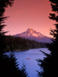 Canoeing on Lost Lake in the Mt Hood National Forest  Oregon  USA