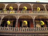 Wrought Iron Architecture and Baskets  French Quarter  New Orleans  Louisiana  USA