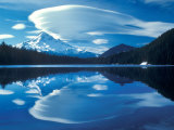 Mt Hood Reflected in Lost Lake  Oregon Cascades  USA