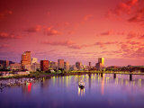 The Portland Spirit on the Willamette River at Sunrise in Portland  Oregon  USA