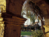 Courtyard of Mission San Juan Capistrano  California  USA