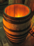 Toasting a New Oak Wine Barrel at the Demptos Cooperage  Napa Valley  California  USA