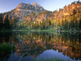 Mt Magog Reflected in White Pine Lake at Sunrise  Wasatch-Cache National Forest  Utah  USA