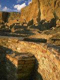 Kiva wall  Pueblo Bonito  Chaco Canyon  Chaco Culture National Historical Park  New Mexico  USA