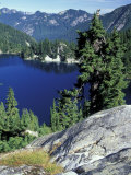 Snow Lake  Snoqualmie Pass  Alpine Lakes Wilderness  Washington  USA