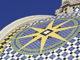 Starburst Tile Pattern on California Dome  Balboa Park  San Diego  California  USA