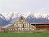 Dr Pierce's Barn  Wellsville Mountains in Distance  Cache Valley  Utah  USA