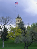 Historic Main Building and Old Main Hill  Utah State University  Logan  Utah  USA