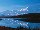 Mt McKinley Reflecting In Wonder Lake  Denali National Park  Alaska  USA