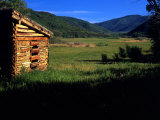 Old Log Homestead near Park City  Utah  USA