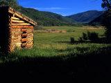 Old Log Homestead near Park City  Utah  USA