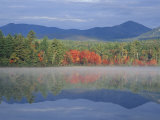 Fall Reflections in Chocorua Lake  White Mountains  New Hampshire  USA