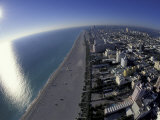 Aerial View of South Beach  Miami  Florida  USA