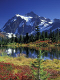 Picture Lake and Mount Shuksan at Heather Meadows  Washington  USA