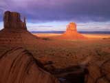 Late Afternoon Light Colors the Rock Formations  Monument Valley  Utah  USA