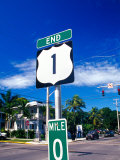 Mile Marker 0  Key West  Florida Keys  Florida  USA