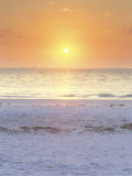 Sunrise at Lighthouse Beach  Sanibel  Florida  USA