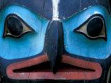 Totem in Sitka Totem Park  Alaska  USA